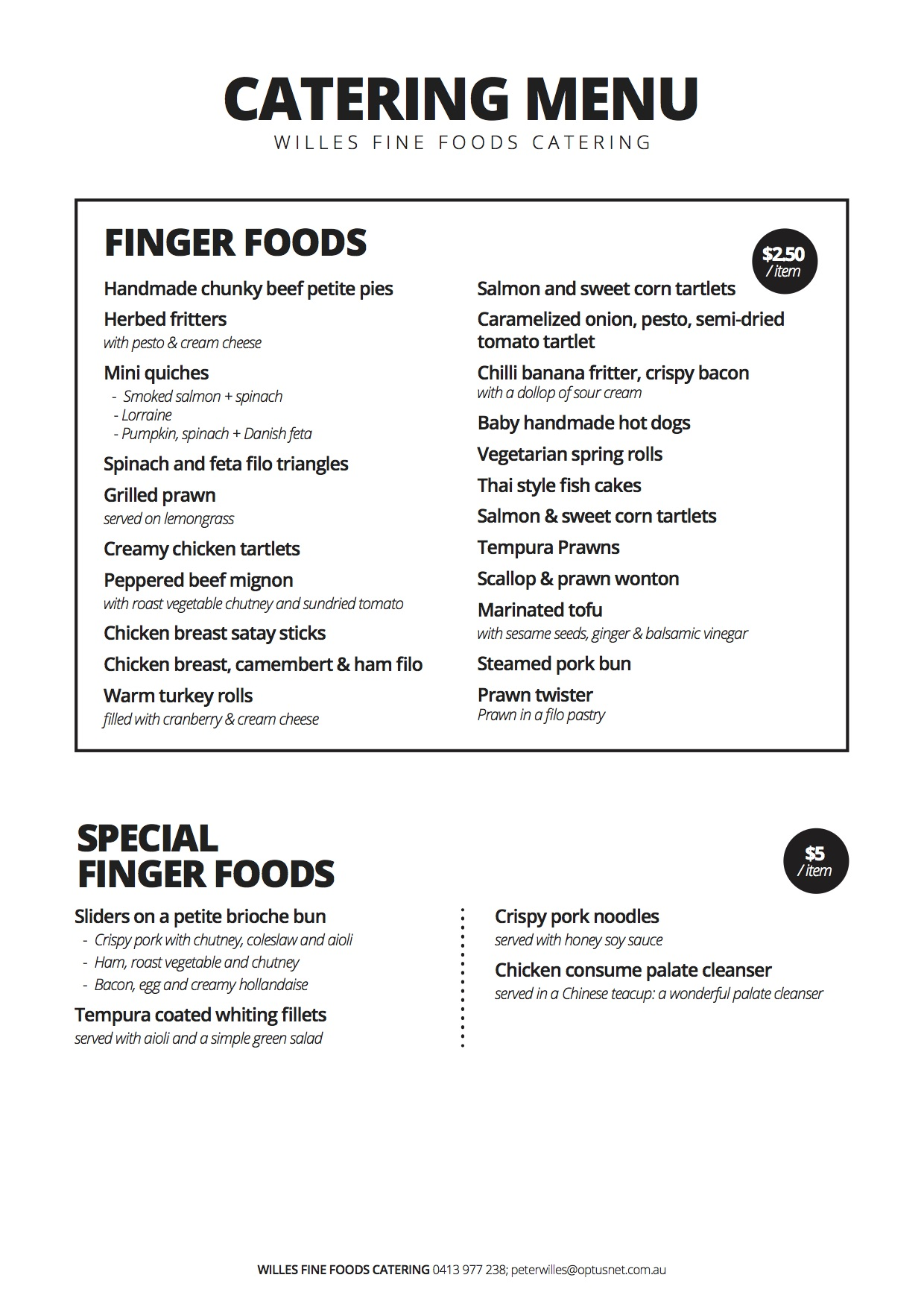 Finger Foods Catering