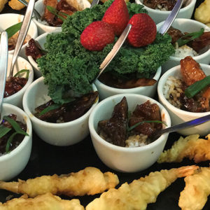 Eloquently Displayed Finger Foods by Willes Fine Foods Brisbane Catering