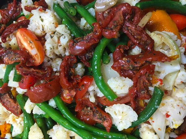 Sun Dried Tomato, Bean and Cauliflower Salad at Willes Fine Foods Bulimba