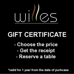 Willes Cafe Gift Certificate